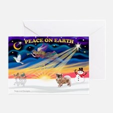XmasSunrise/Tibet Span #1 Greeting Card