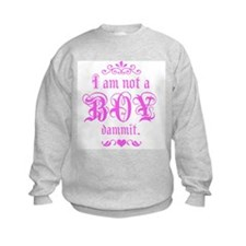 kids-i am not a boy Sweatshirt
