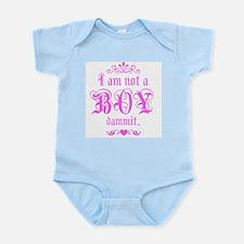 kids-i am not a boy Infant Creeper