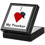 I Love My Trucker Keepsake Box