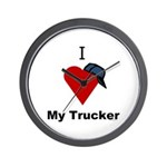 I Love My Trucker Wall Clock