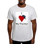 I Love My Trucker Ash Grey T-Shirt
