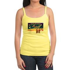 XmasSunrise/2 Airedales Jr. Spaghetti Tank