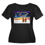 XmasSunrise/2 Airedales Women's Plus Size Scoop Ne