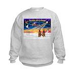 XmasSunrise/2 Airedales Kids Sweatshirt