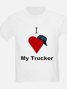 I Love My Trucker Kids T-Shirt
