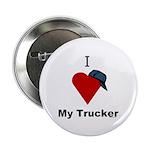 I Love My Trucker Button