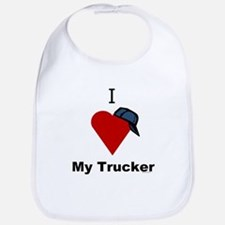 I Love My Trucker Bib