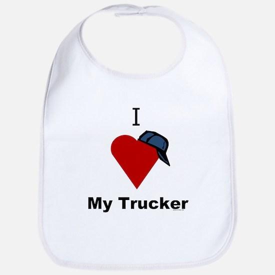 I Love My Trucker Bib