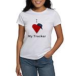 I Love My Trucker Women's T-Shirt
