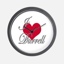 I love (heart) Durrell Wall Clock