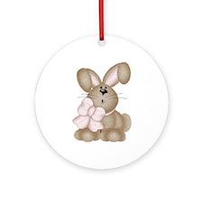 Cute Bunny Rabbit Keepsake (Round)