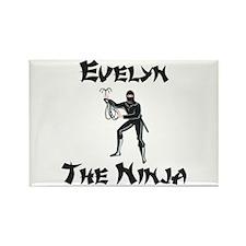 Evelyn - The Ninja Rectangle Magnet