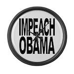 Impeach Obama Large Wall Clock