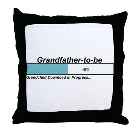 Download Grandfather to Be Throw Pillow