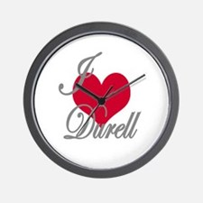 I love (heart) Durell Wall Clock