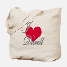 I love (heart) Durell Tote Bag