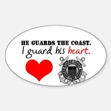 Guard His Heart Oval Decal