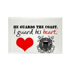 Guard His Heart Rectangle Magnet