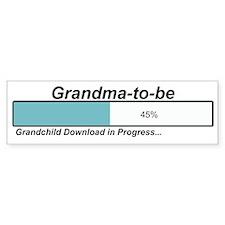 Download Grandma to Be Bumper Bumper Sticker