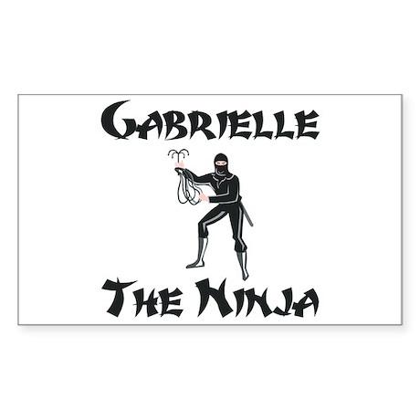 Gabrielle - The Ninja Rectangle Sticker