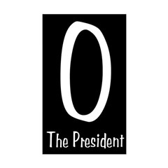 O The President black bumper sticker