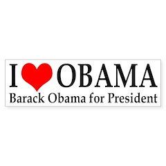 I Heart Obama bumper sticker