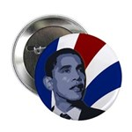 "Patriotic Obama for President 2.25"" Button"