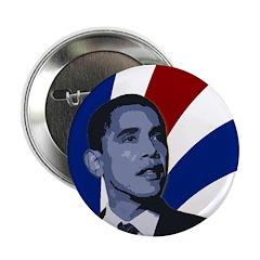 "Patriotic Obama for President 2.25"" Button"