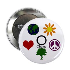 "Five Icons for Obama 2.25"" Button"