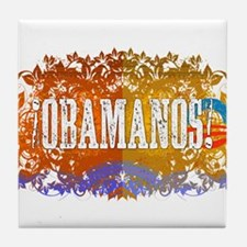 Obamanos Flowering Tile Coaster