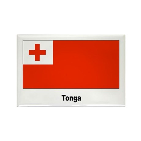 Tonga Tongan Flag Rectangle Magnet