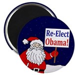 Santa: Re-Elect Obama Magnet