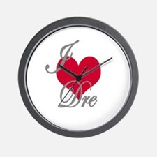 I love (heart) Dre Wall Clock