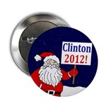 Santa for Clinton 2012 Button