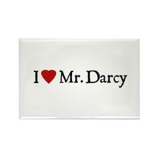 Jane Austen Heart Darcy Rectangle Magnet