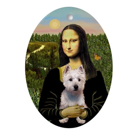 Mona Lisa & Westie Keepsake (Oval)