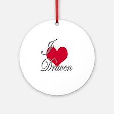 I love (heart) Draven Ornament (Round)