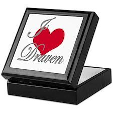 I love (heart) Draven Keepsake Box