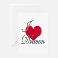 I love (heart) Draven Greeting Card