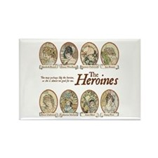 Jane Austen Heroines Rectangle Magnet