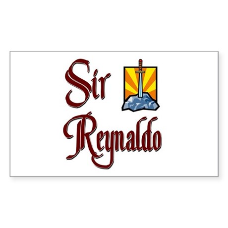 Sir Reynaldo Rectangle Sticker