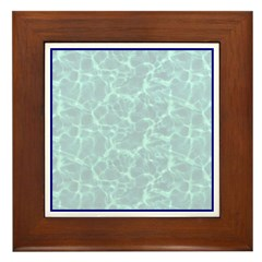 Blue Water Look Framed Tile