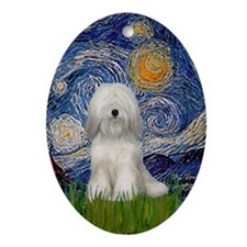 Tibetan Terrier Starry Night Keepsake (Oval)