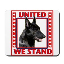 Dutch shepherd with Flag Mousepad
