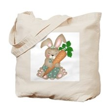 Cute Rabbit With Carrot Tote Bag