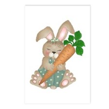 Cute Rabbit With Carrot Postcards (Package of 8)