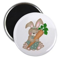 """Cute Rabbit With Carrot 2.25"""" Magnet (10 pack)"""