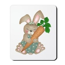 Cute Rabbit With Carrot Mousepad