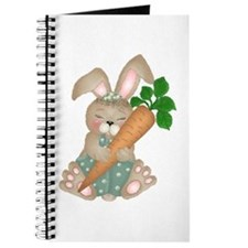 Cute Rabbit With Carrot Journal